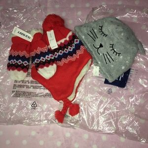 NWT- TODDLER GIRL HATS.